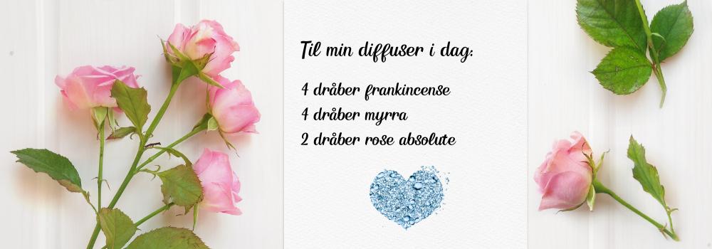 Diffuser blend med rose, myrra og frankincense